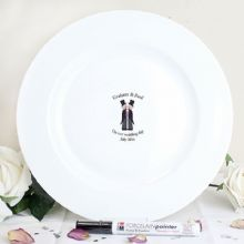 Male Civil Partnership Message Plate
